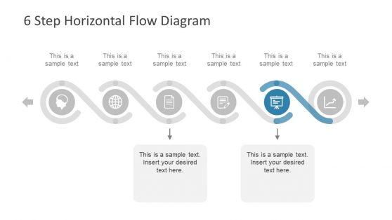 Slide of 6 Step Process Diagram