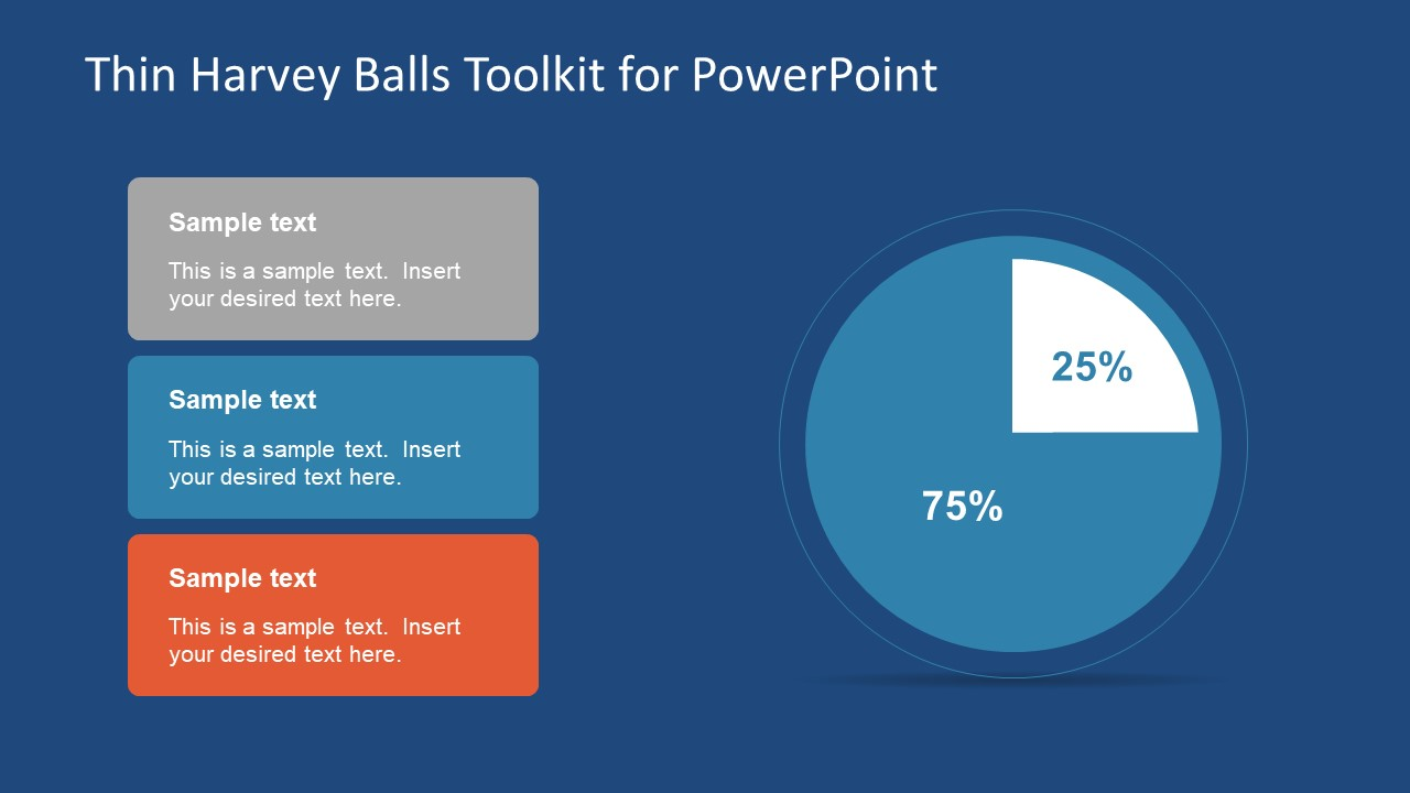Thin Harvey Balls Toolkit PowerPoint Template