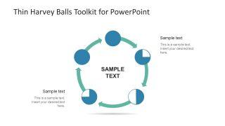 Thin Harvey Balls Shapes Cycle Diagram