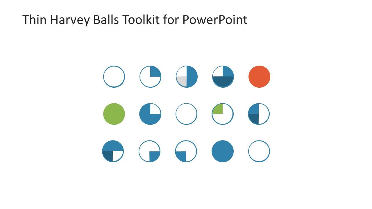 Thin Harvey Balls Toolkit Powerpoint Template