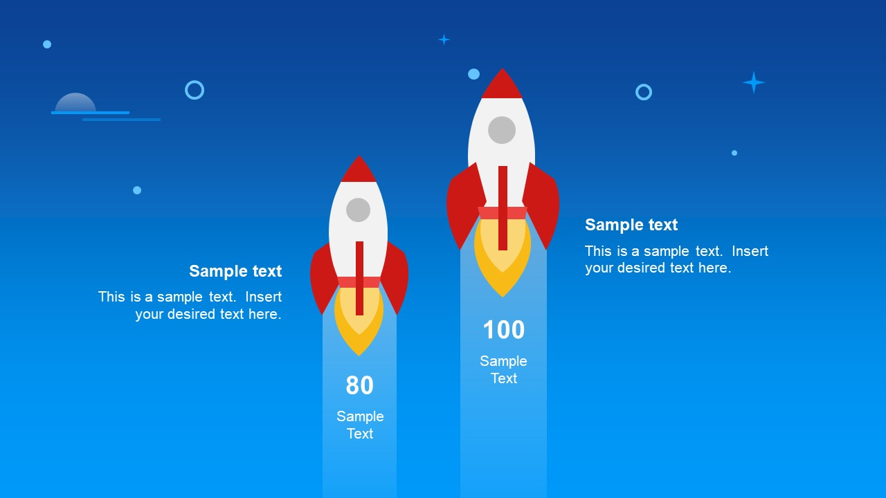 rocket comparison powerpoint shapes