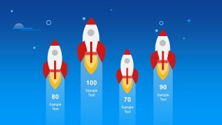 Red and White Rocket Shape Presentation