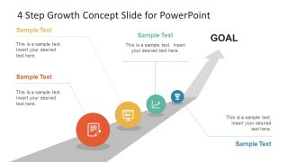 4 Step Growth Concept PowerPoint Template