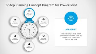 Clock Slide of Strategy Presentation