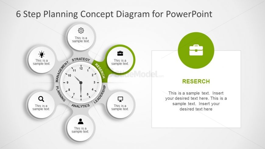 Green Pendant Tag Infographic PowerPoint