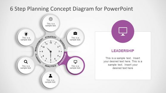 Clock Planning Concept Diagram of PowerPoint
