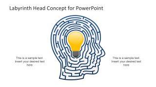 Bulb Shape Clipart Slide Human Head Silhouette