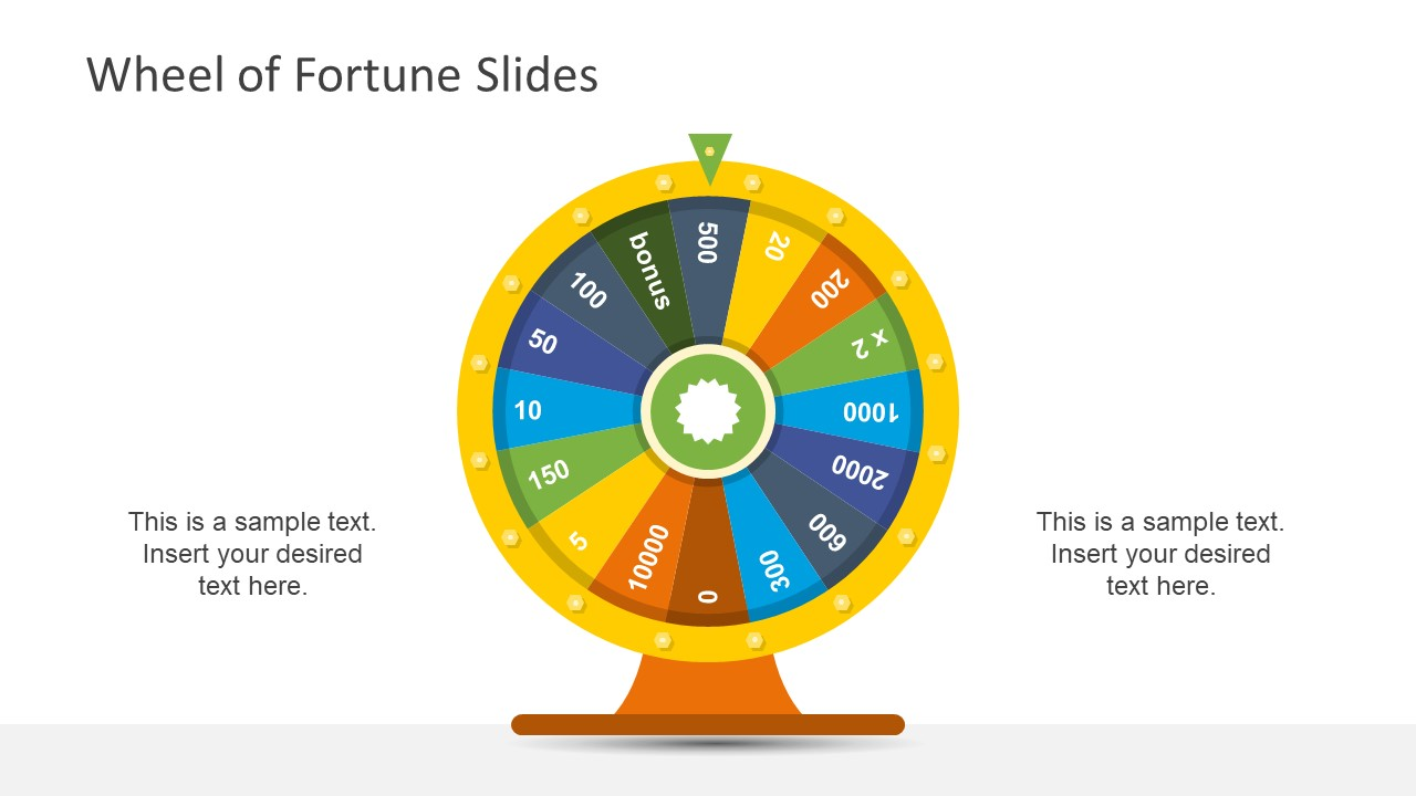 wheel of fortune ppt template - wheel of fortune powerpoint template slidemodel