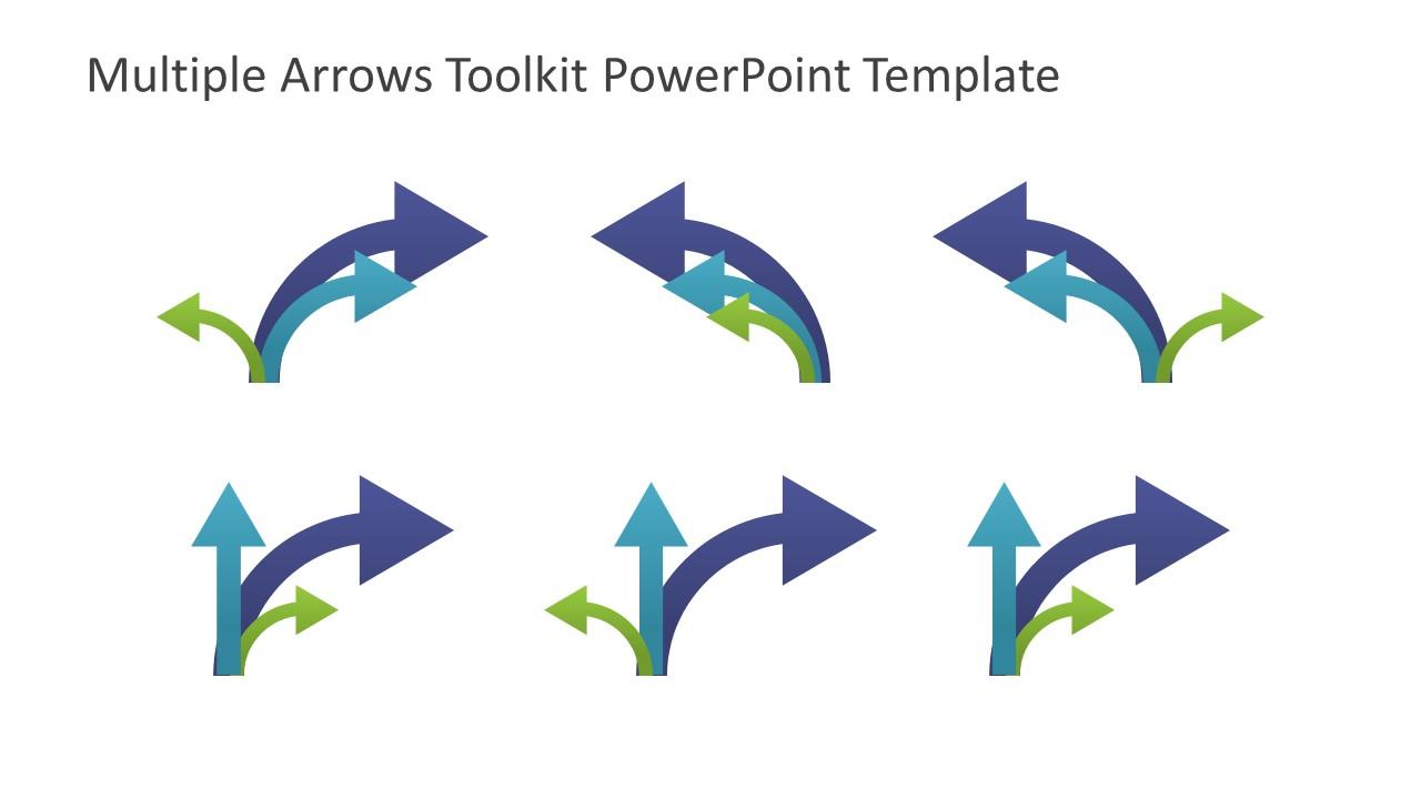 multiple arrows toolkit powerpoint template - slidemodel, Presentation templates