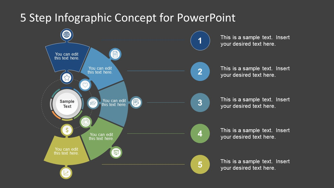 5 step infographic concept for powerpoint