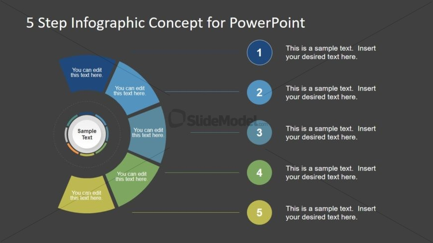 Circular Agenda PowerPoint Diagram