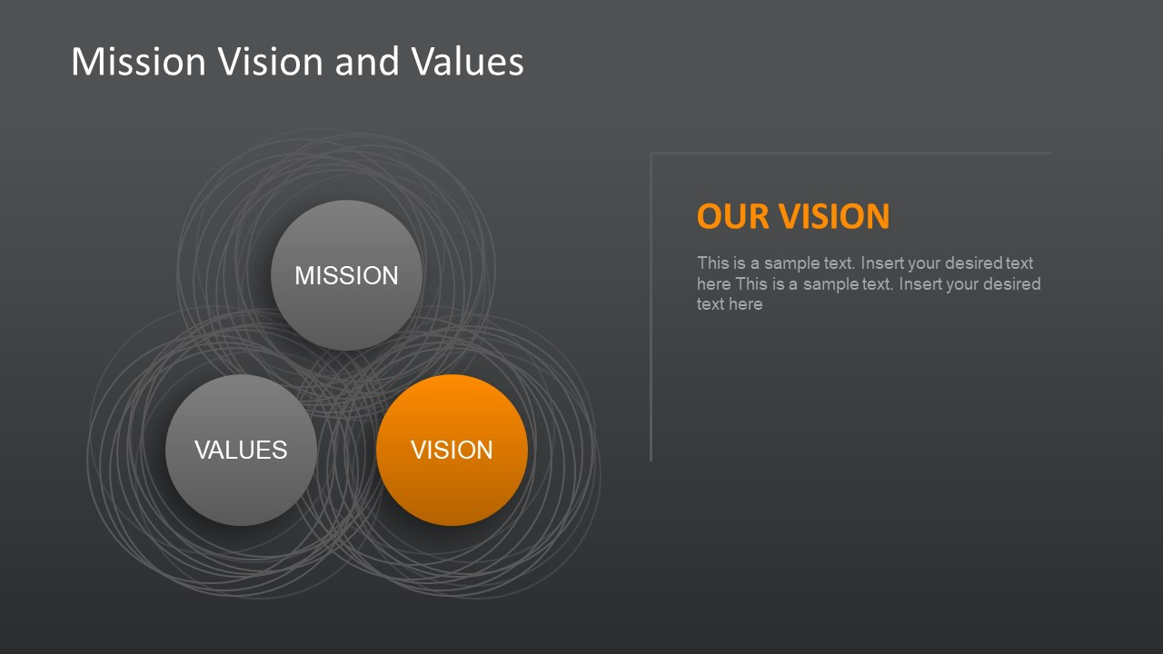 mission  vision and values slides for powerpoint