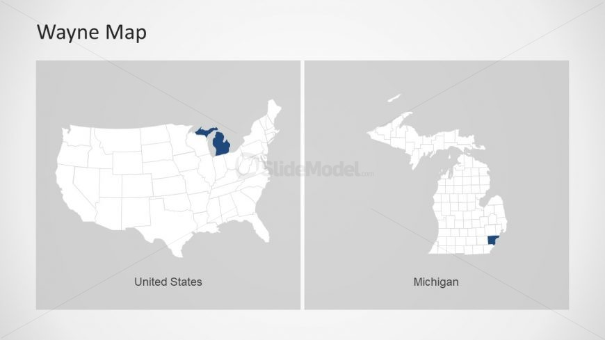 Simple Slide of US Map with States - SlideModel on detroit on world map, michigan usa, detroit suburbs map, baltimore map usa, minneapolis map usa, milwaukee map usa, detroit state map, city street maps usa, detroit city map, pittsburgh map usa, detroit area, detroit on us map,