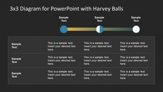 Creative Harvey Balls Comparison Template