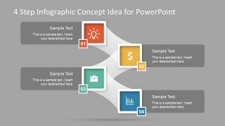 4 Step Infographic Concept Idea for PowerPoint