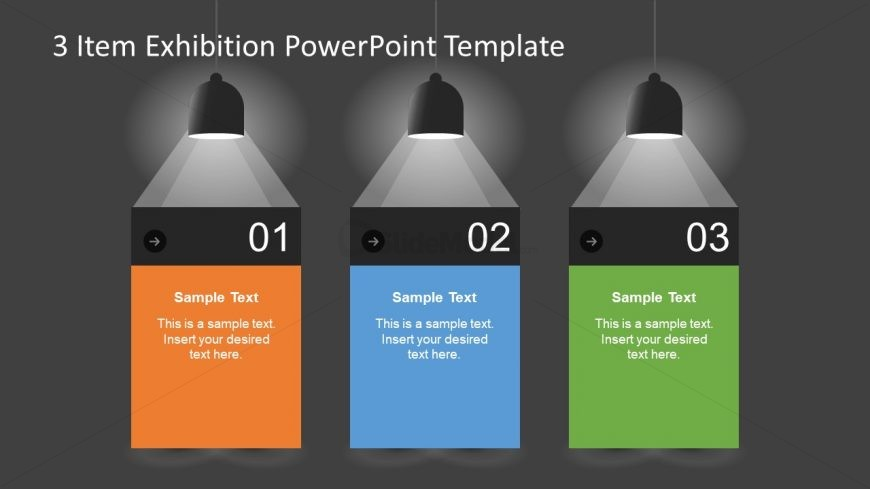 Background PowerPoint of Spotlights