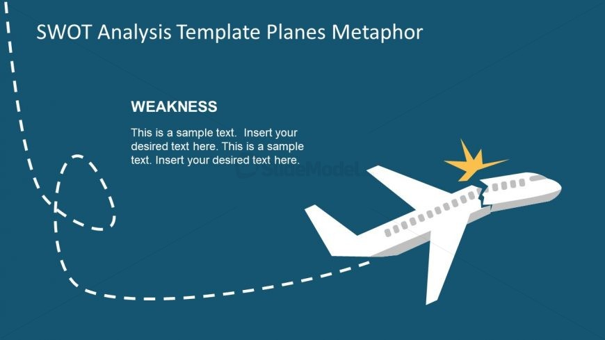 Route of Plane for SWOT in PowerPoint