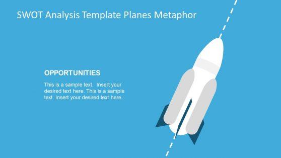 PowerPoint Template of Rocket Diagram