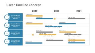 3-Year Timeline Concept for PowerPoint