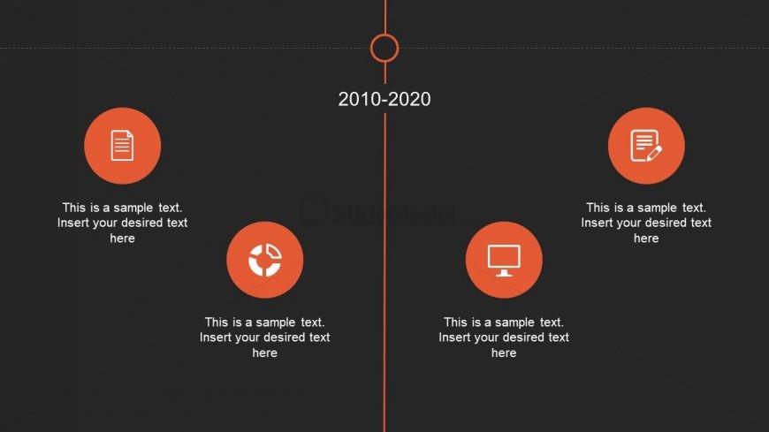 ppt slide of timeline with animation slidemodel