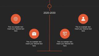 Presentation of Vertical Timeline in PowerPoint