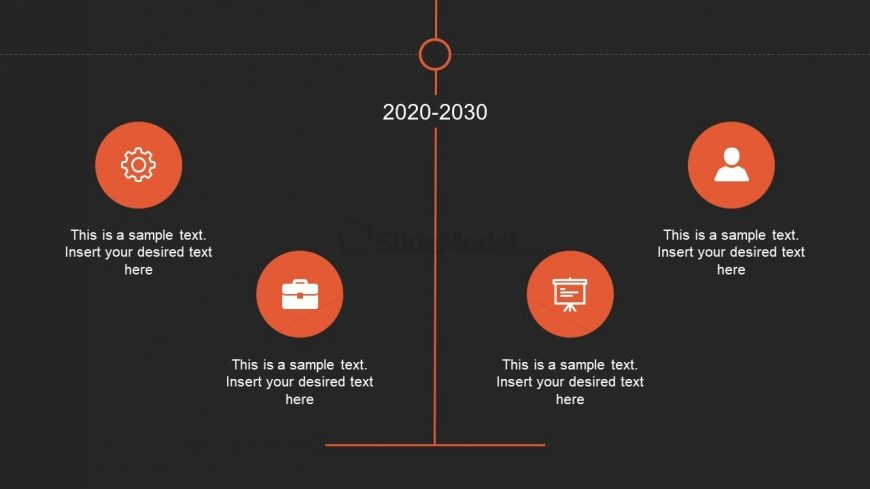 Presentation of Vertical Timeline in PowerPoint