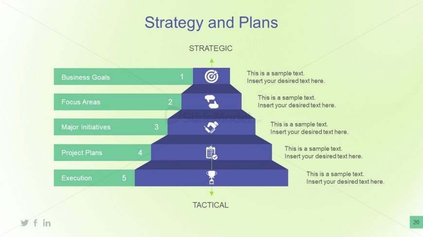 business plan template strategic steps slidemodel