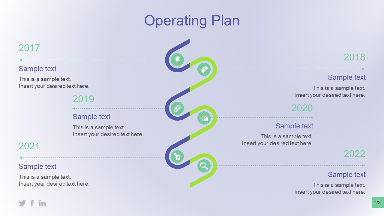 Infographic Vertical Timeline for Planning