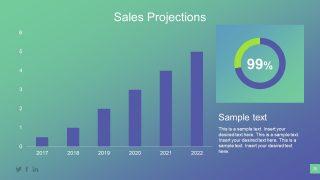 Bar and Donut Chart Data Driven Slide