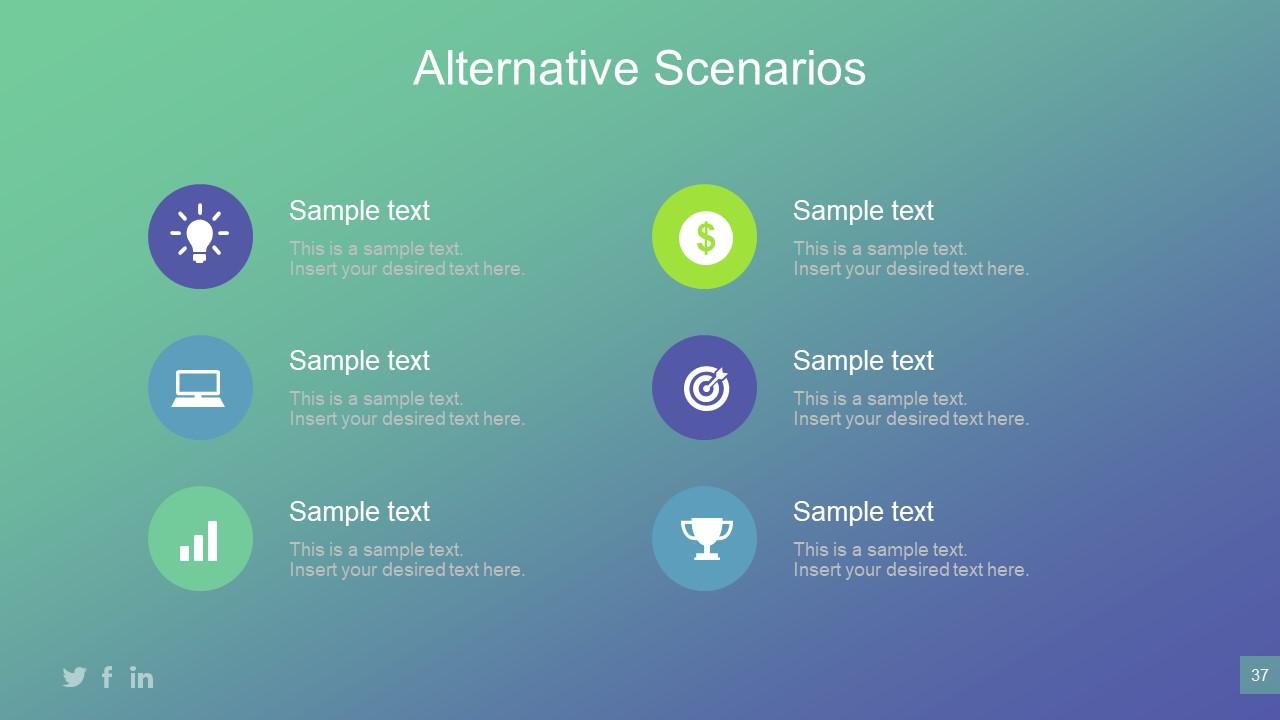 Alternative Scenarios Presentation of Infographic Sections