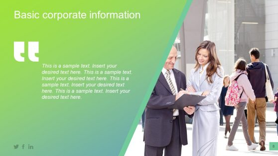 Corporate Information Presentation Template