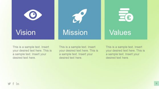 Vision Mission and Value Infographic PPT