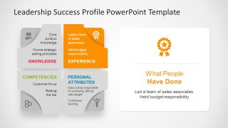 Template of Success Profile with Icons