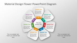Material Design Flower PowerPoint Diagram
