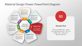 Presentation of Flower Circular Diagram