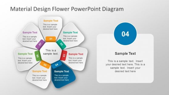 PowerPoint Diagram 7 Step Flower