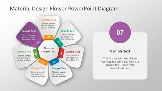 7 Steps Material Design Flower PPT