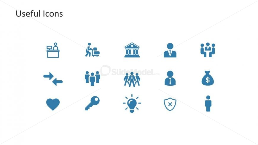 15 Icons Slide Template