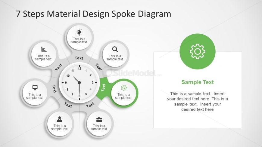 Creative Infographics Slide Gear Icon