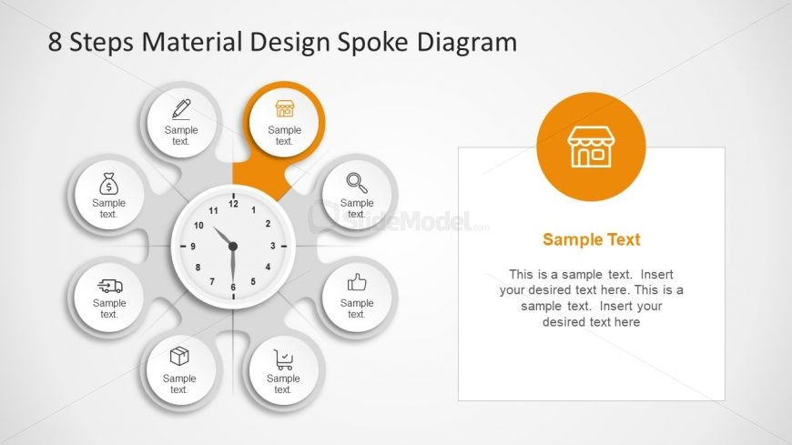 Shope Icon Infographic Steps Slide