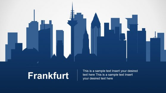 Frankfurt am Main Template Skyline