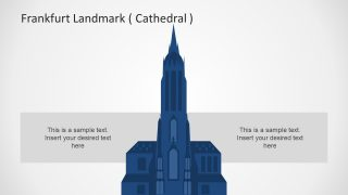 Frankfurt am Main Cathedral Silhouette Clipart