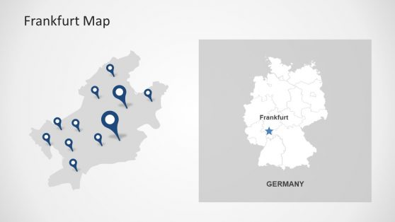 Germany powerpoint templates geographic location markers powerpoint toneelgroepblik Images