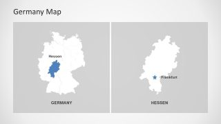 Scalable Germany Map Slide Hessen State