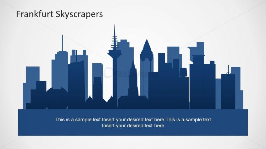 Creative Skyline Template of Frankfurt