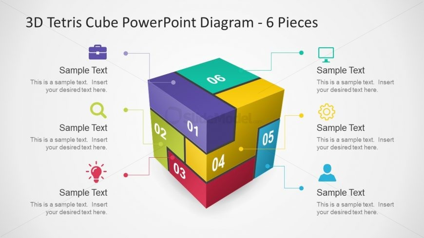 Colorful Cube Diagram 3D Template