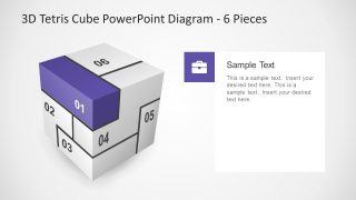 Tetris Diagram Slide with Infographics