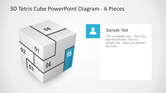 User Slide of 3D Cube PPT