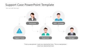 Flat sipoc powerpoint diagram slidemodel for Case for support template