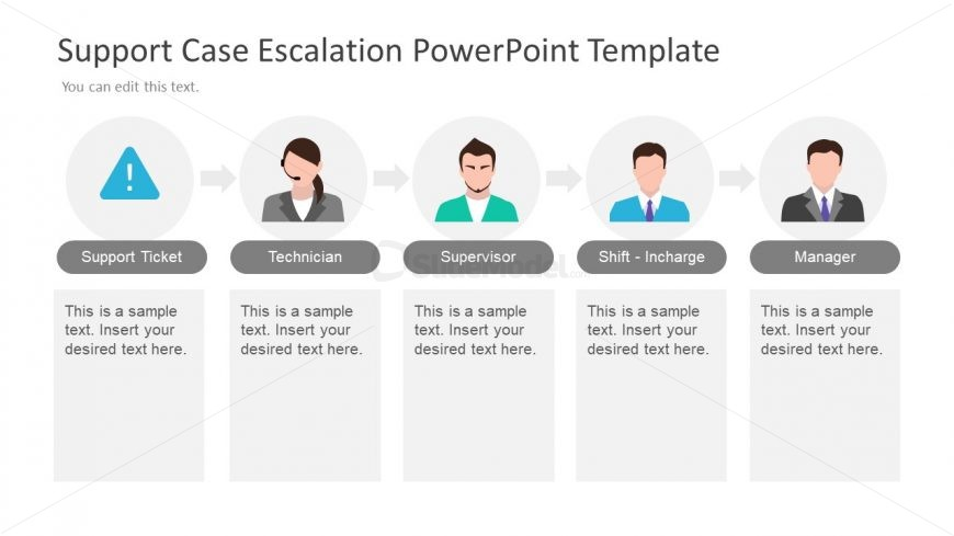 Editable Slide of Escalation PowerPoint